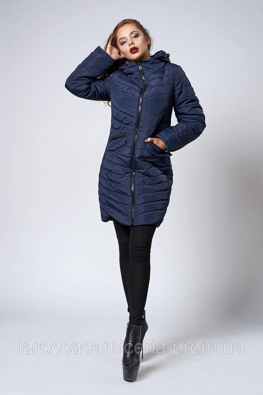 a1ce477dc05 Женское демисезонное пальто. Код модели К-102-37-18. Цвет синий.