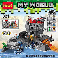 Конструктор Decool серия My World 821 Остров Черепа 2в1 (аналог Lego Майнкрафт, Minecraft)