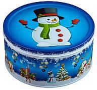"""Подарок """"Мультяшка 3XL"""" в большом жестяном тубусе Снеговик, 510г"""