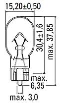 Светодиодная лампа  с цоколем T10/T15(W5W/W16W) COB-7.5W-Красный, фото 3