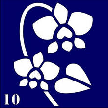 """Трафарет для био-тату № 10 """"Орхидея"""""""