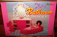 Мебель для кукол Gloria Глория 94013 Ванная комната
