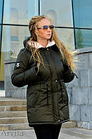 Женская зимняя парка курточка