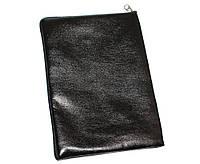 Чехол-обложка для планшетов 10', кожаный, на молнии, Black