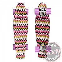 401G Pink Zigzag/White/Lilac