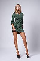 Платье мод №293-6, размеры 44 оливка
