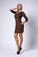 Платье мод №293-8, размеры 44,46,48 шоколад