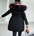 Куртка парка на пуху (черная с розовым подкладом). Оригинал., фото 3