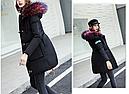 Куртка парка на пуху (черная с розовым подкладом). Оригинал., фото 5