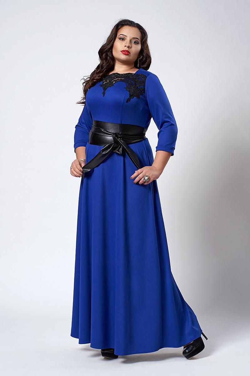 Платье мод 540-1 ,размер 50,54,56 электрик