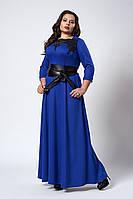 Платье мод 540-1 ,размер 54,56 электрик