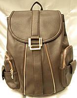 b0dbcd3531e1 Стильный женский рюкзак, рыжий кожаный рюкзак, рюкзак для девочки,  городской рюкзак