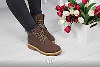 Ботинки Тимб Chocolate (демисезон) нубук