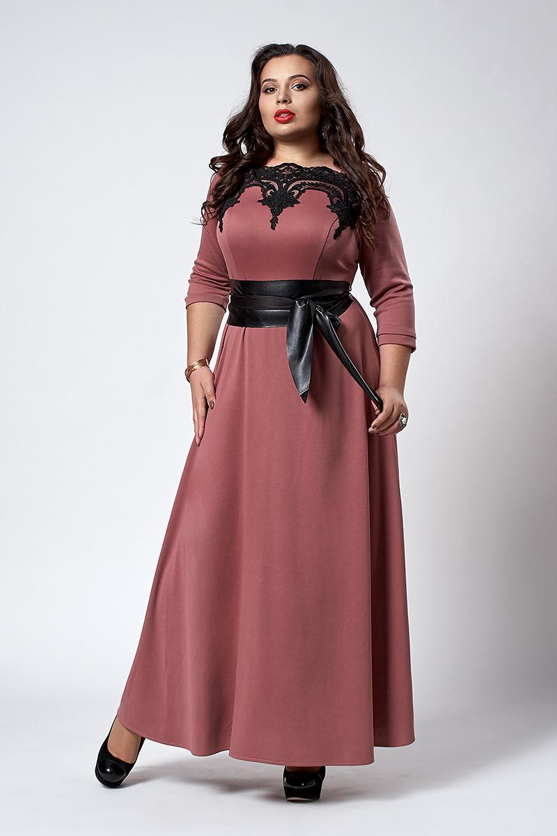 Платье мод 540-3 ,размер 56 фрезия