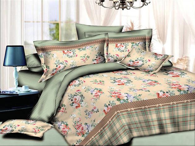 Двуспальный комплект постельного белья евро 200*220 хлопок  (8275) TM KRISPOL Украина, фото 2