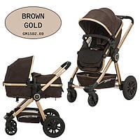 Универсальная коляска-трансформер Gmini Grand 2017 Brown gold