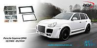 Переходная рамка 2-DIN Porsche Cayenne (9PA) 02->10 black