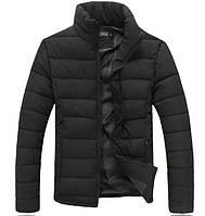Зимняя мужская дутая куртка без капюшона