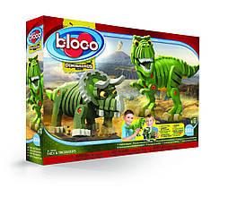М'який конструктор bloco T-Rex і Трицератопс