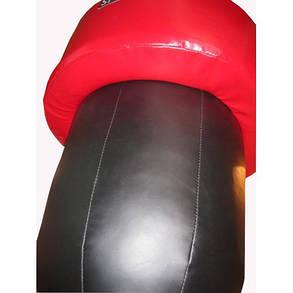 Боксерский мешок апперкотный силуэт Spurt (черно/красный), фото 2