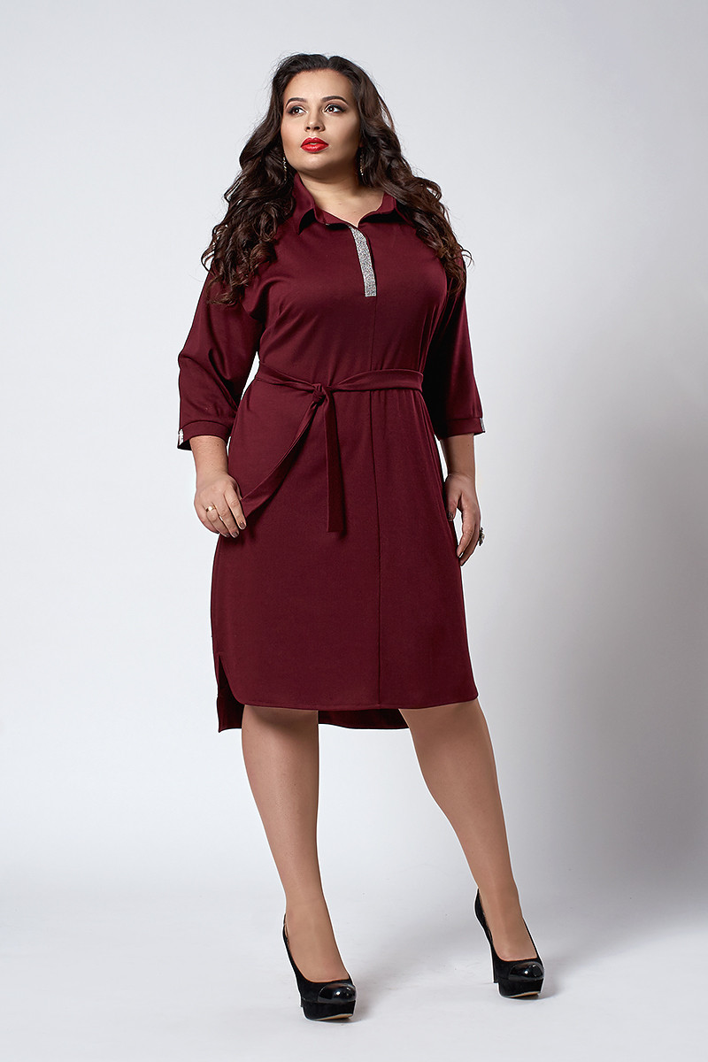 Платье мод. №539-2, размеры 60  бордо