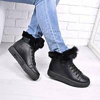 Ботинки женские ZL черные ЗИМА 3700 , ботинки женские