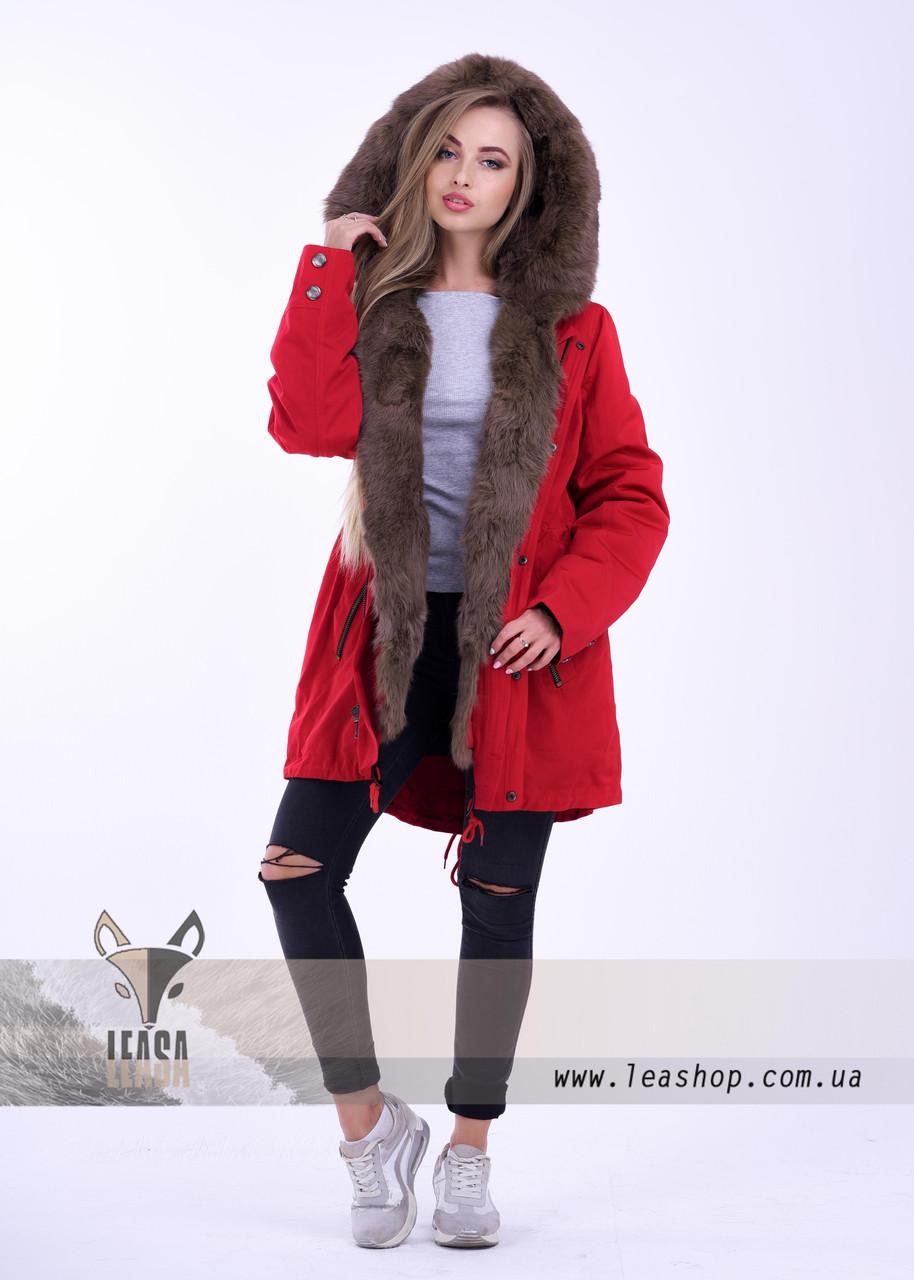 cfda102d Женская зимняя парка с кроликом - Женские шубы и меховые жилетки от  Украинского производителя | LEAshop