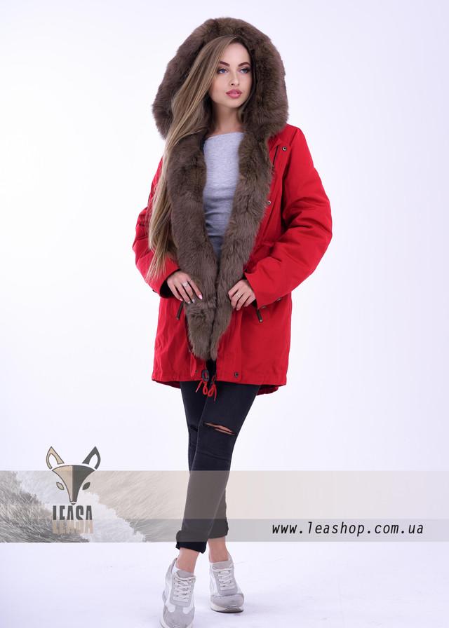 Куртка парка с мехом под соболь ФОТО