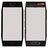 Nokia X7 Сенсорный экран с рамкой, черный