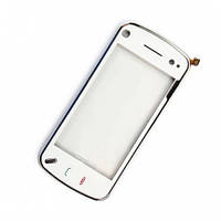 Nokia N97 MINI Сенсорный экран с рамкой, белый