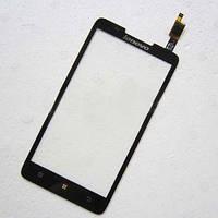 Lenovo A656 A766 Сенсорный экран  черный