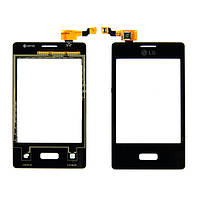 LG Optimus L3 E400 Сенсорный экран черный