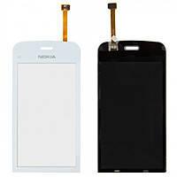 Nokia C5-03 Сенсорный экран Сенсор (тачскрин) Nokia C5-03, C5-06   белый ОРИГИНАЛ