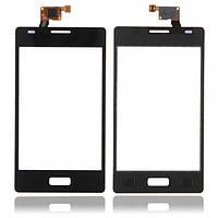 LG E610 Сенсорный экран  черный