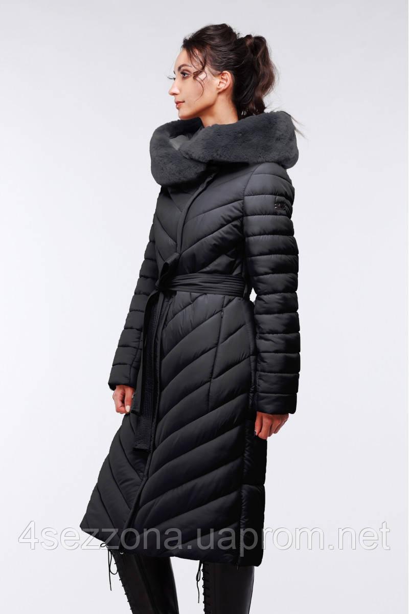 Длинное женское зимнее пальто Фелиция, фото 1