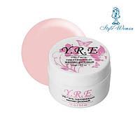 Гель Уф для наращивания ногтей однофазный 15 мл матово розовый YRE