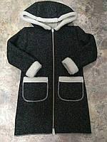 Пальто-дубленка для девочки на зиму