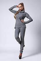 Костюм мод №300-2, размеры 44,46 серый Луи Витон
