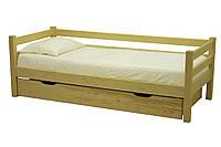 Кровать деревянная с задней спинкой Л-117 90*200 Скиф , фото 1