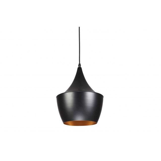 Светильник в стиле лофт подвесной черный с золотым