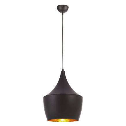 Светильник в стиле лофт подвесной черный с золотым , фото 2