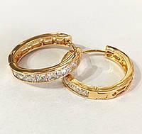 Серьги кольца с камнями, ювелирная бижутерия