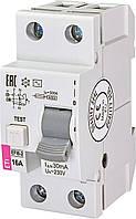 Диференційний вимикач (ПЗВ) ETI EFI6-2 16/0,03 тип AC (6 kA)