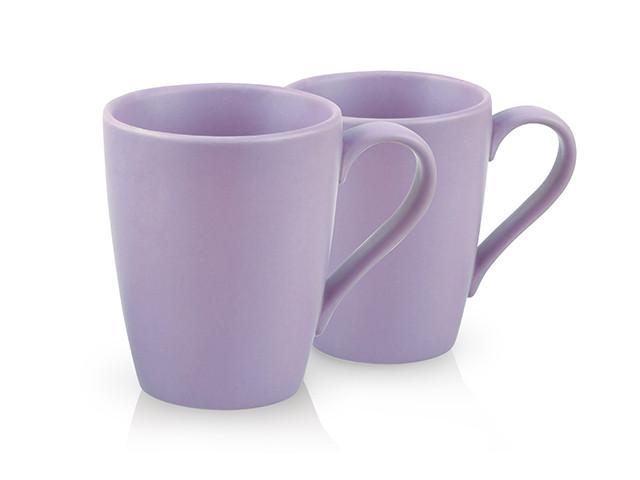 """Набор из 2 кружек """"Violet"""" 18х8х10см/0.3л керамических Fissman"""
