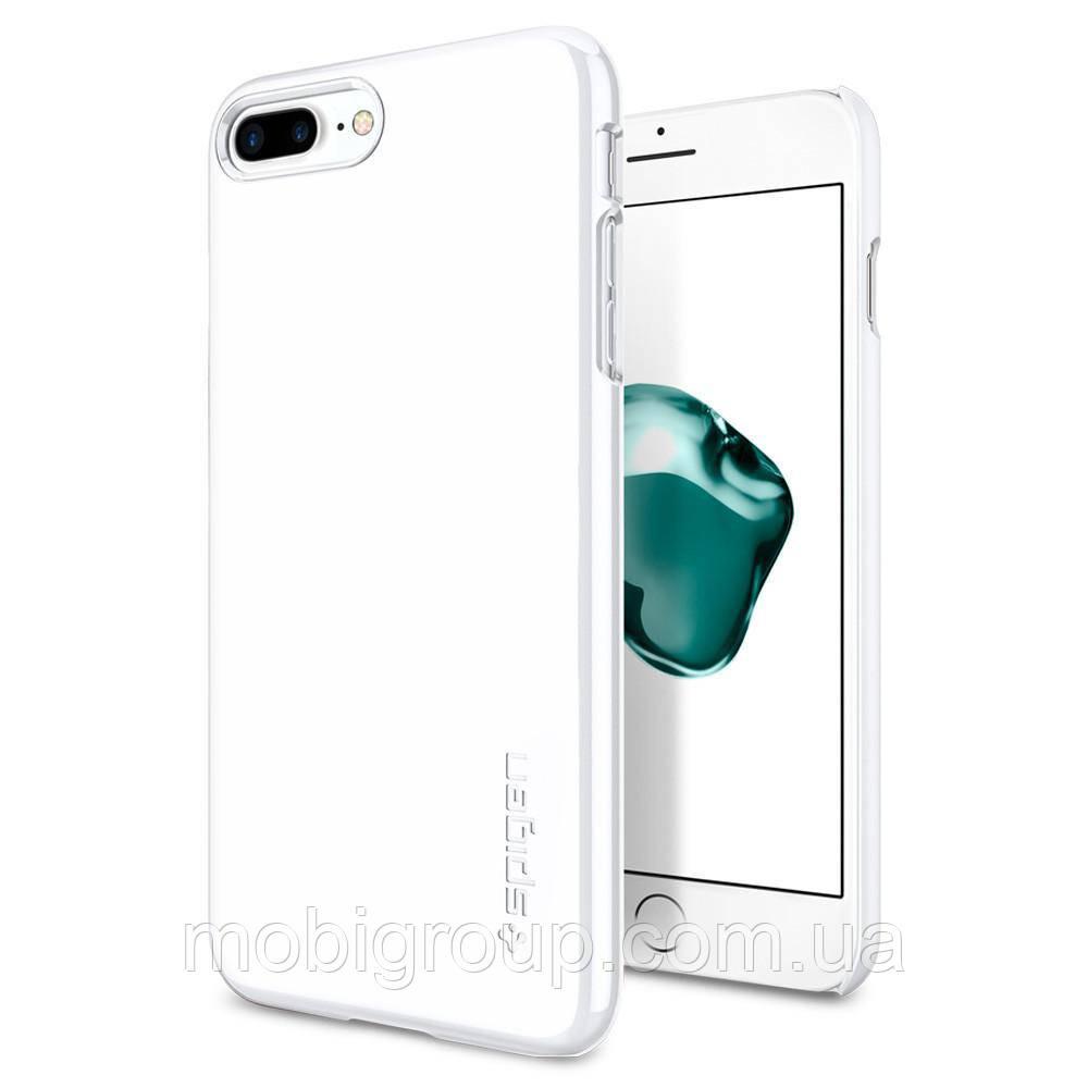 Чехол Spigen для iPhone 8 Plus Thin Fit, Jet White