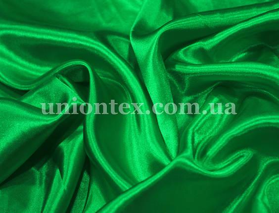 Креп-сатин зеленый трава, фото 2