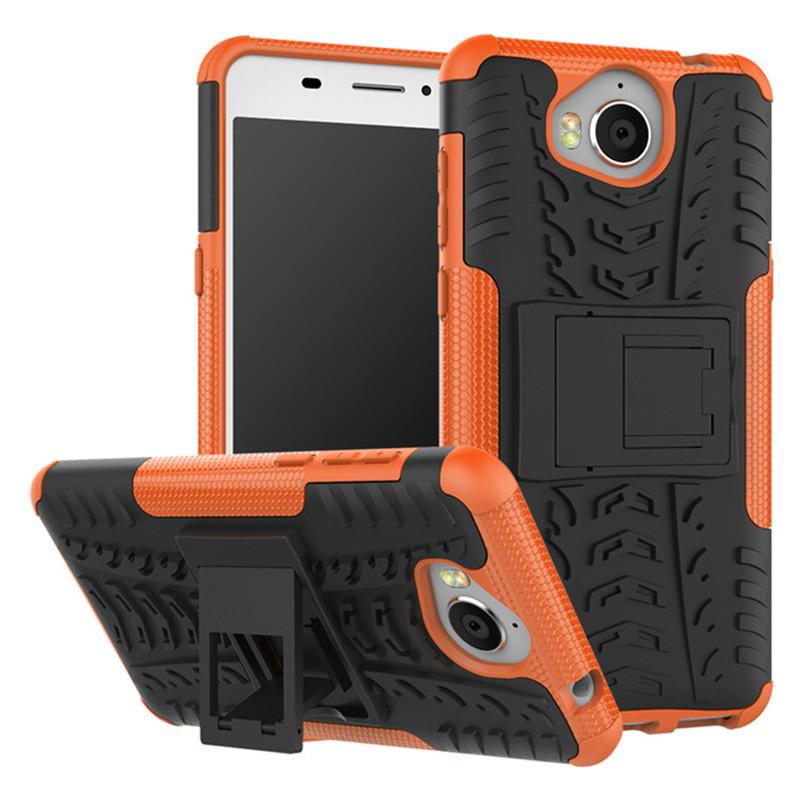 Чехол Huawei Y5 2017 противоударный бампер оранжевый