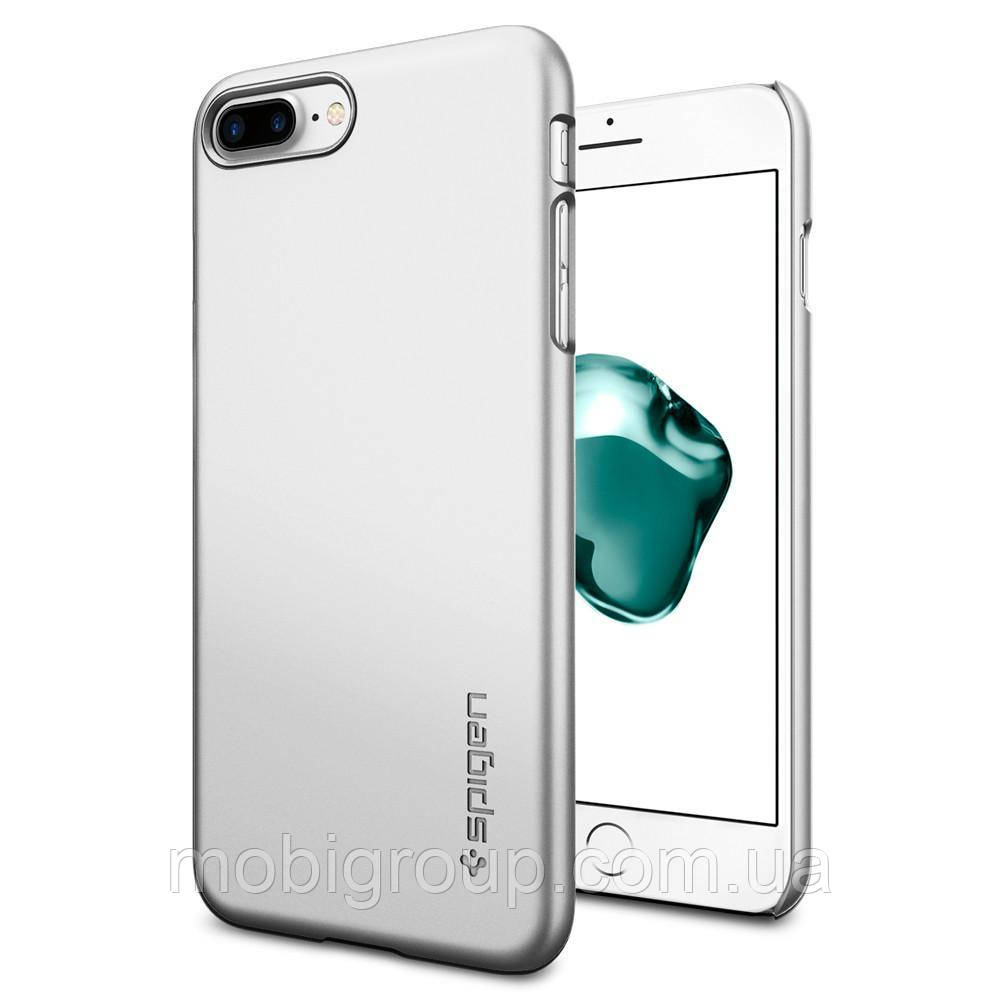 Чехол Spigen для iPhone 8 Plus Thin Fit, Satin Silver