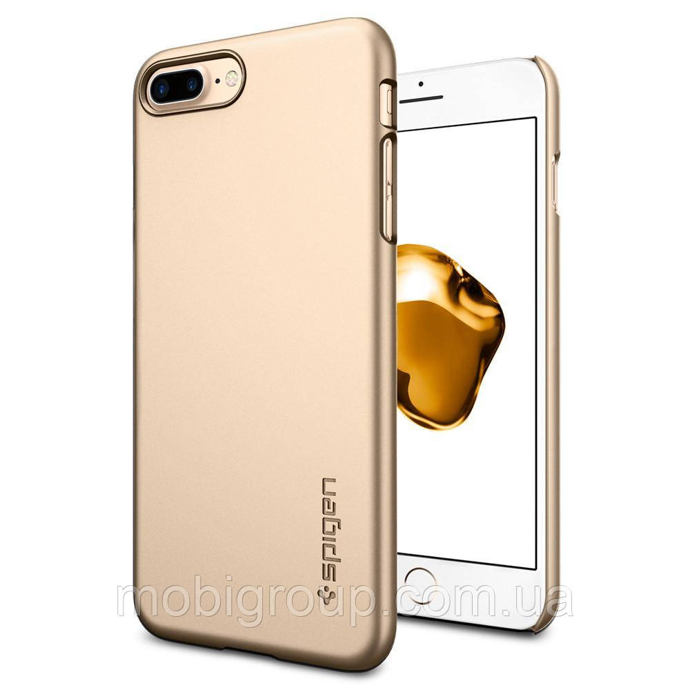 Чехол Spigen для iPhone 8 Plus Thin Fit, Champagne Gold