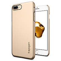 Чехол Spigen для iPhone 8 Plus Thin Fit, Champagne Gold, фото 1